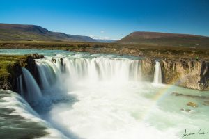 Goðafoss waterval waterfall IJsland Iceland fotografie Andrea Liebrand regenboog rainbow