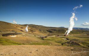 Krafla power plant geothermal area IJsland Iceland fotografie Andrea Liebrand