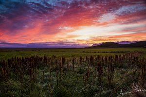 Svínafell Skaftafell zonsondergang sunset IJsland Iceland fotografie Andrea Liebrand