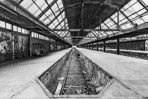 urbex fotografie Montzen treinstation