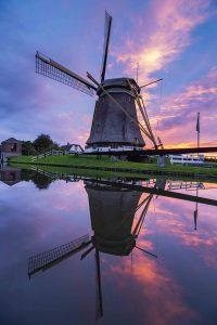 Nederland fotografie zonsondergang reflectie